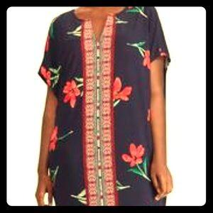 Chaps Dresses - 🎉 HP 🎉Chaps Floral & Mosaic Print Shift Dress